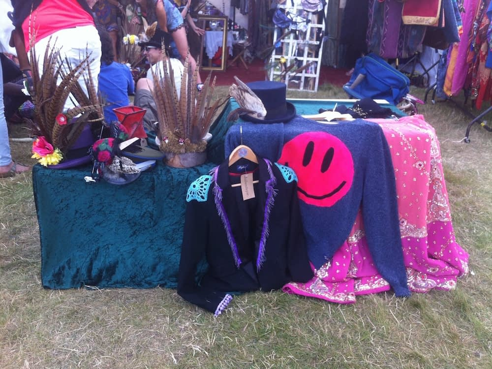 embellished jacket acid smiley stall