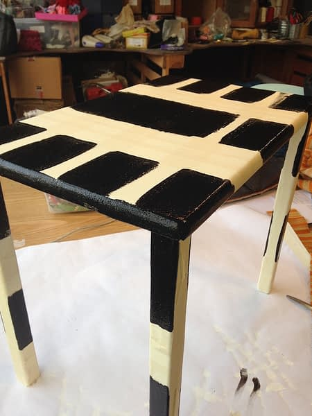 chequered coffee table