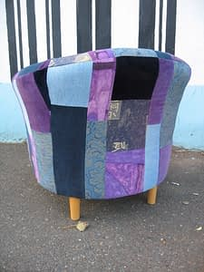 patchwork tub chair upholstery