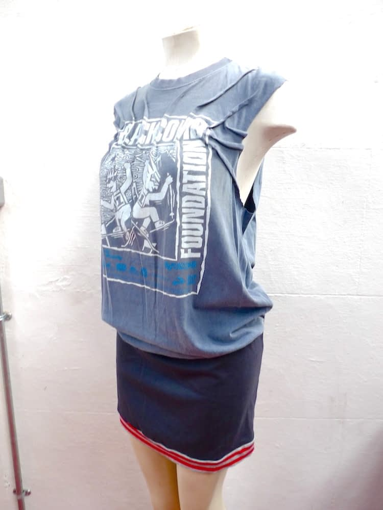 upcycled tee dress top