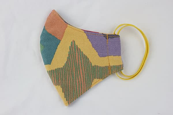 abstract 80s eco cotton face mask covering