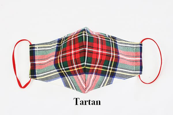 tartan eco sustainable washable reusable face mask