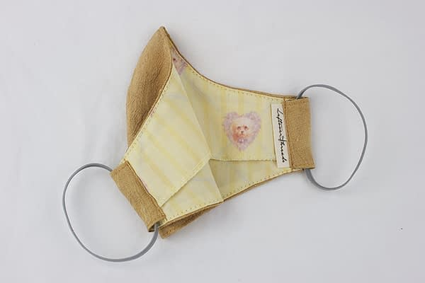 golden silk and cotton eco face mask covering