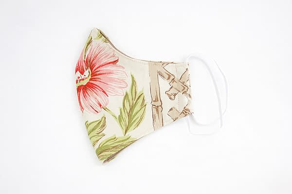 Bamboo Flowers Face Mask with Organic Lining