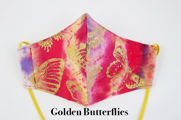 Golden Butterflies Children's Eco Sustainable Face Mask