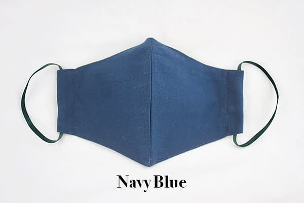 navy blue childrens eco organic face mask