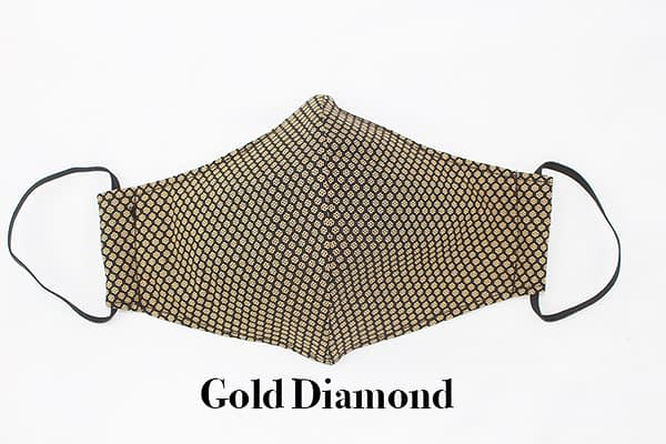 gold diamond eco cotton face mask covering