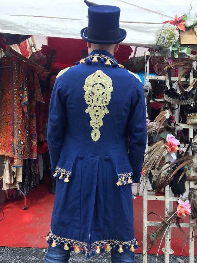 Navy Blue and Gold Figaro Jacket
