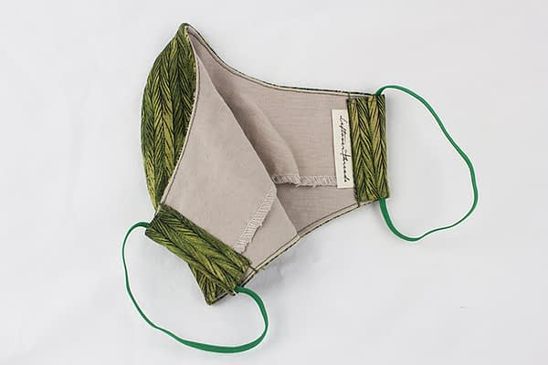 forest green eco cotton face mask covering