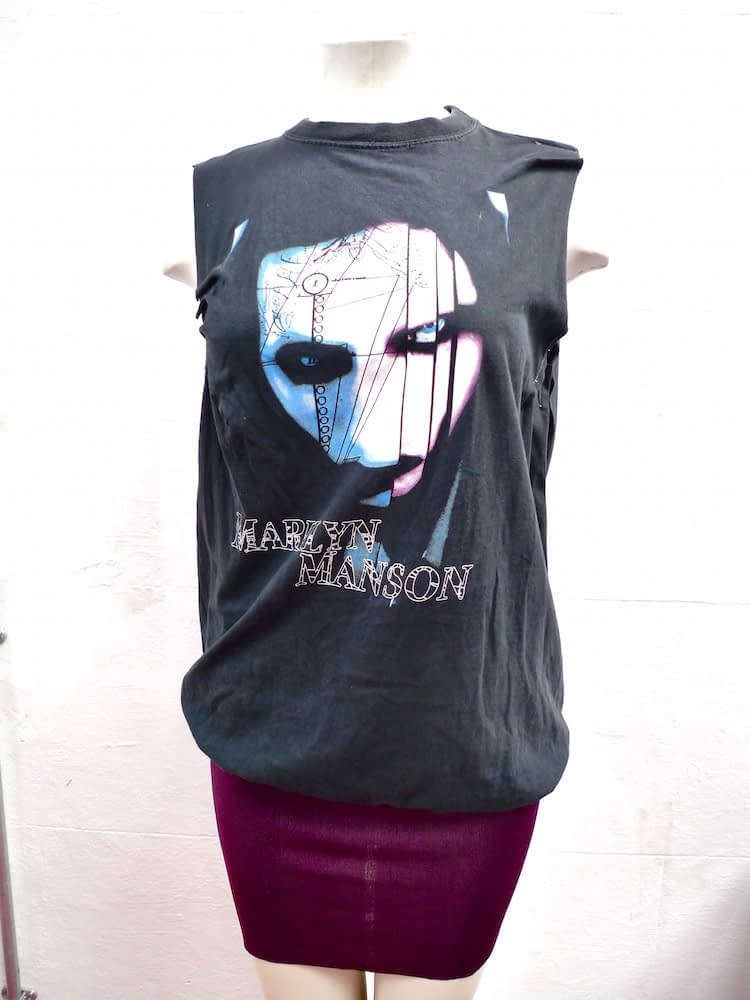 remade manson tee dress