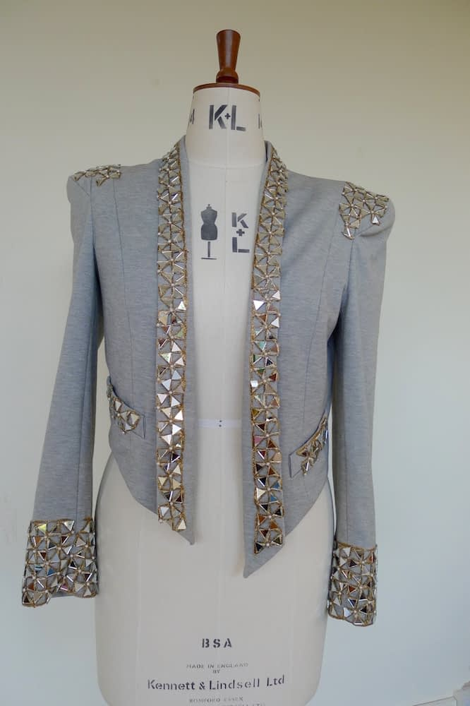 customised embellished mirror jacket
