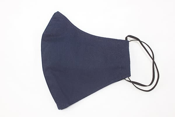 navy blue organic eco cotton face mask covering