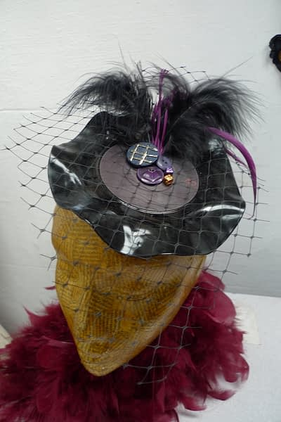 feather fascinator vinyl record 7""