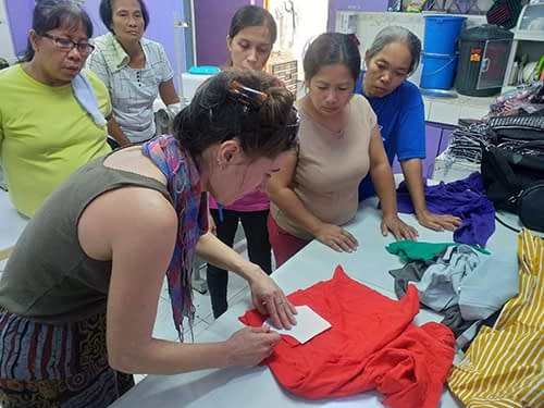 Face Mask Making with Purple Community Fund in Manila