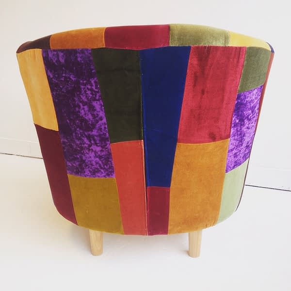 patchwork upholstery armchair