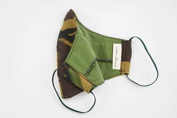 Camo Face Mask with Organic Cotton