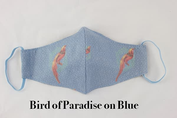 bird of paradise eco cotton face mask covering