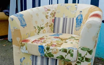 Reupholstered Patchwork Tubchair