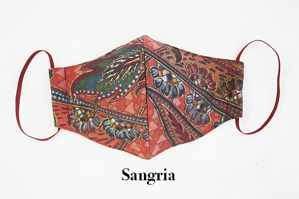 Sangria Eco Sustainable Face Mask with Organic Cotton Lining